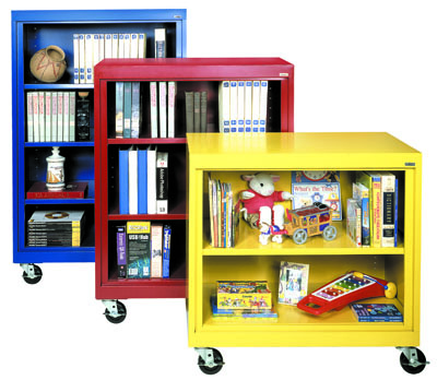Colorful Mobil Bookcases