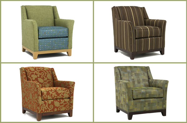 Same Chair, Four Different Fabrics