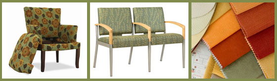 Contract Seating: Bariatric seating,  Incontinence Seating,  fluid-proof Fabric