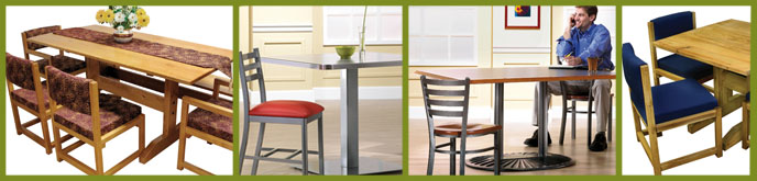 Durable Tables, Wood Tables, Metal Tables.