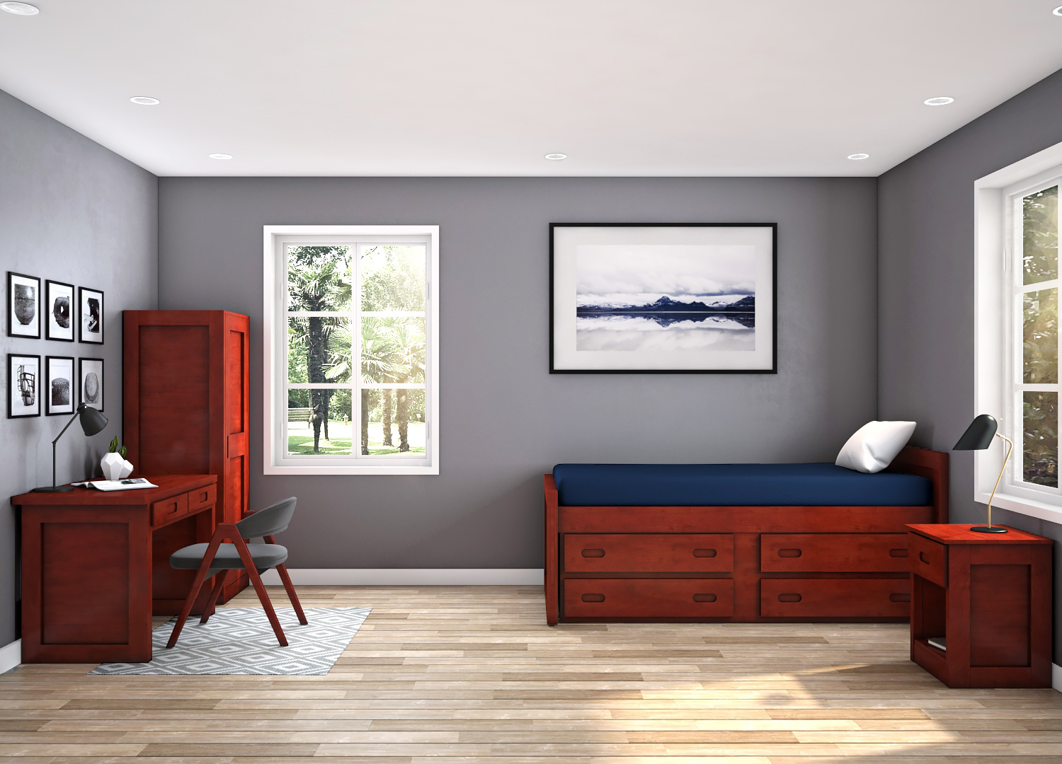 Tough Stuff Bedrooms help create a healing space.