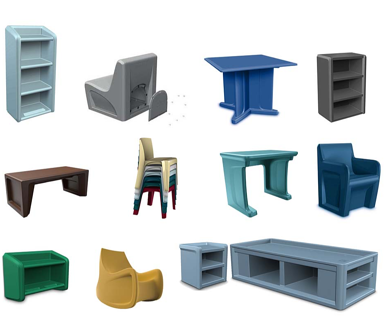 Molded Plastic Furniture for Extreme Environments